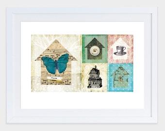 Home - FINE ART PRINT - Digital collage