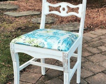 Vintage Chair w Lilly Pulitzer Fabric