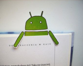 Android bookmark - green, bookmark for book