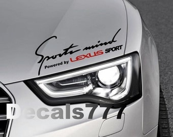 Sports Mind Powered By LEXUS Sport Racing CTh ESh ES - Lexus custom vinyl decals for car