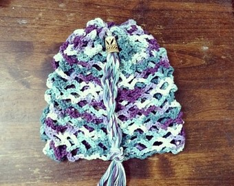 100% Cotton Crocheted Lunch Sack