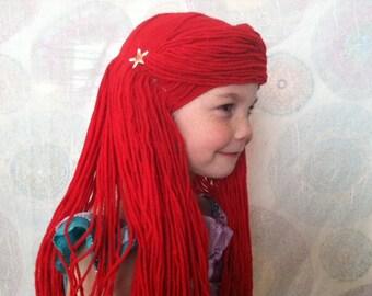 Ariel costume wig, Mermaid costume, Little mermaid, Toddler mermaid, Kids mermaid, Mermaid dress up, Ariel wig, Mermaid wig, Girls Halloween