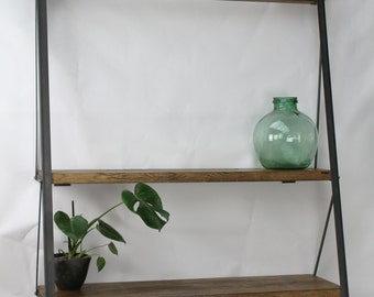 KONK! Industrial Ladder Bookcase, Oak/Steel, shelving, bookshelf, shelf, shelves  [Bespoke sizes!]