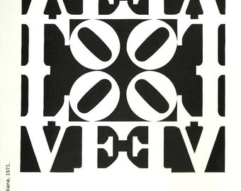 Robert Indiana Decade Color Silkscreens Gallery Brochure Accordion Brochure Robert Indiana 1971