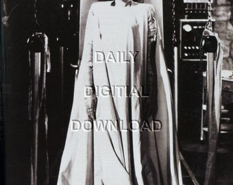 Set of 4 Bride of Frankenstein digital photo downloads Large files Movie Poster Great Halloween Home Decor Instant Prints