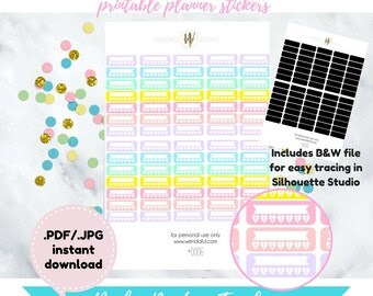 Item #0006 PRINTABLE DIY Routine/Habit Weekly Tracker Stickers (perfect for erin condren planners)