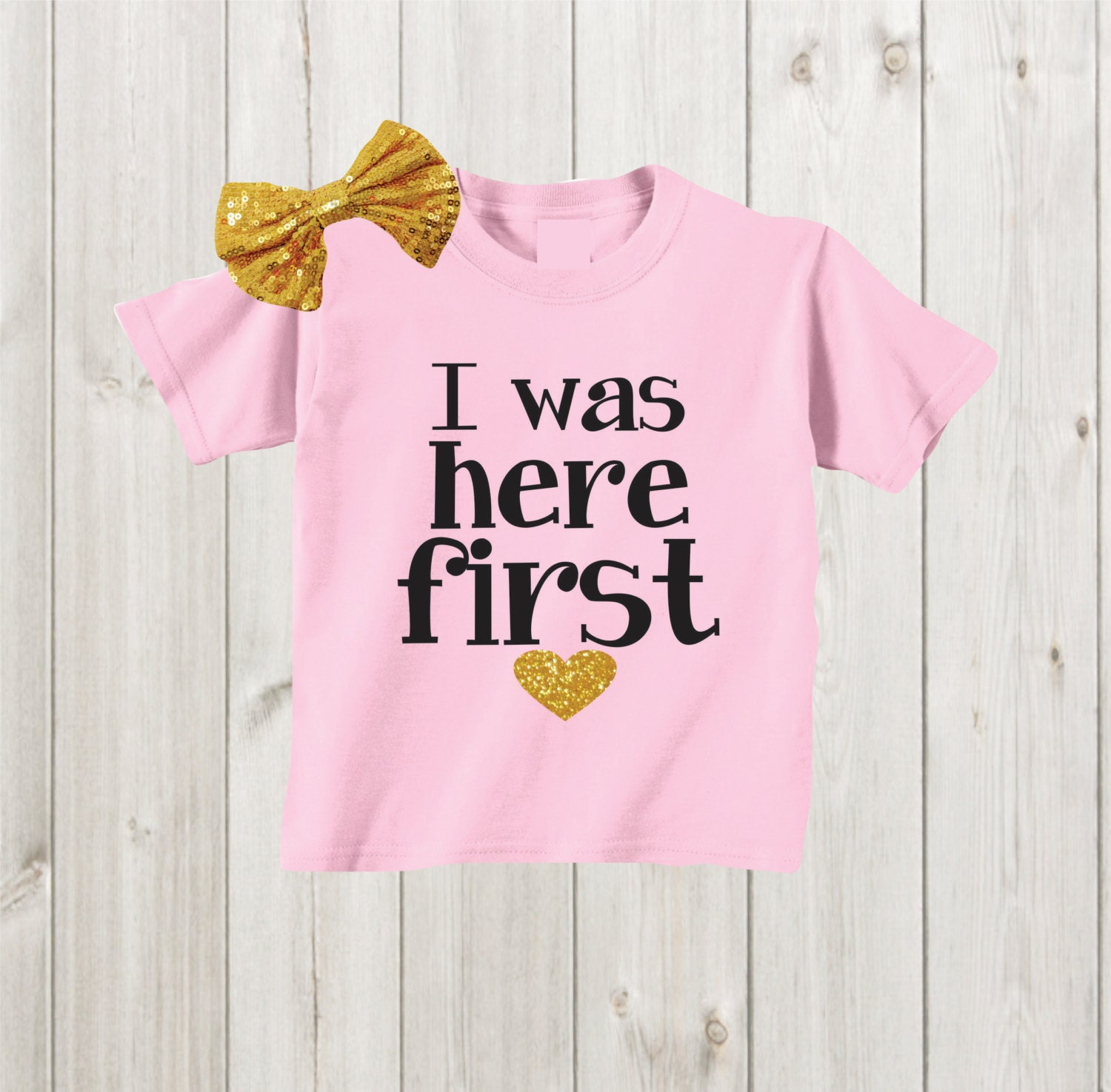 I was here first big sister shirt pregnancy by mkclassyprints for Big sister birth announcement shirts