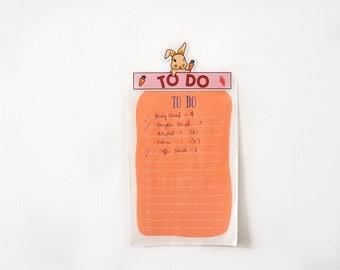 To Do Bunny Magnet • Refrigerator magnet, fridge magnet, cute magnet • To Do List