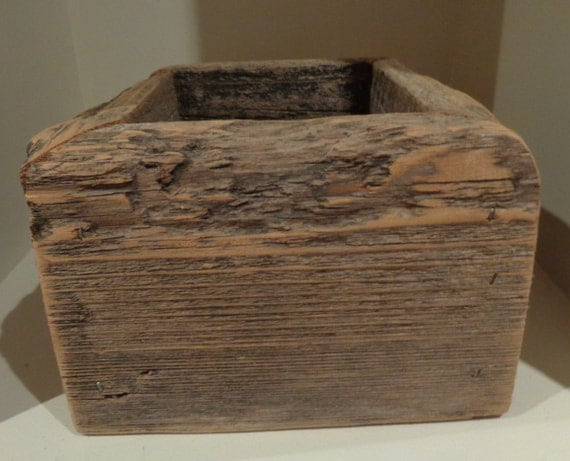 Vintage Wooden Flower Pot Plant Holder Box Primitive By