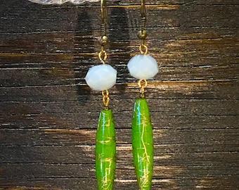 Vintage & Crystal Beaded Earrings