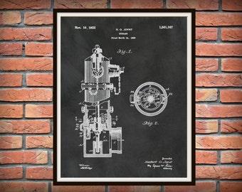 Patent 1925 Fire Hydrant - Art Print - Poster - Fire House Wall Art - Fire Fighter - Fire and Rescue Art - Fire House Art - Fire Departmen