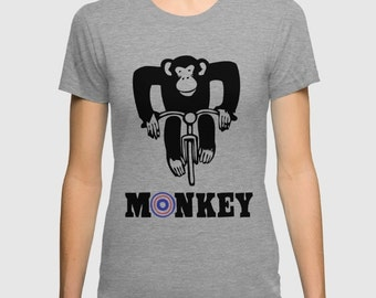 Graphic Tee - bicycle, bike, monkey, funny, animals in bicycles, tee, t-shirt