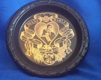 Diana and Charles Wedding Plate
