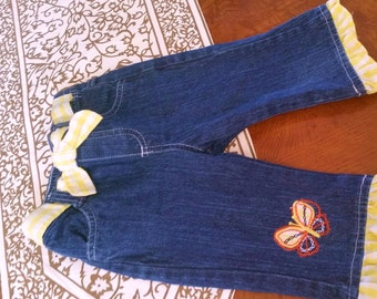 SALE girls jeans, 3T girls jeans, Girls clothing, Girls Embellished clothing, toddler play clothes, 3T, girls jeans, girls Spring clothing