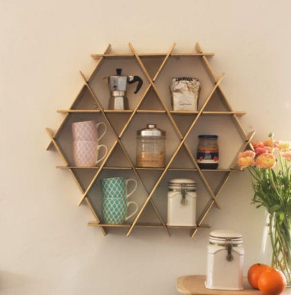 Mug Shelf Kitchen: Kitchen Storage Coffee Shelf Kitchen Organization Kitchen