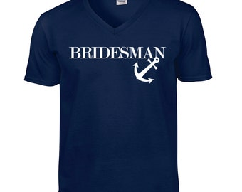 Bridesman Shirt / Best Man Shirt / Best Man T-shirt / Wedding Shirt / Bridal Shirt / V-neck /453