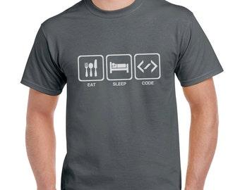 Eat Sleep Code Funny T-Shirt or Tank Gift