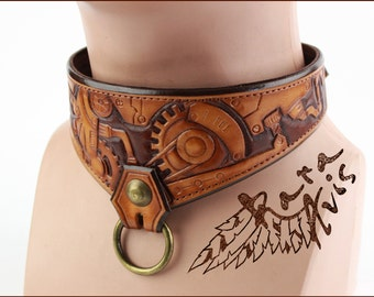 Leather Collar Chocker Steampunk