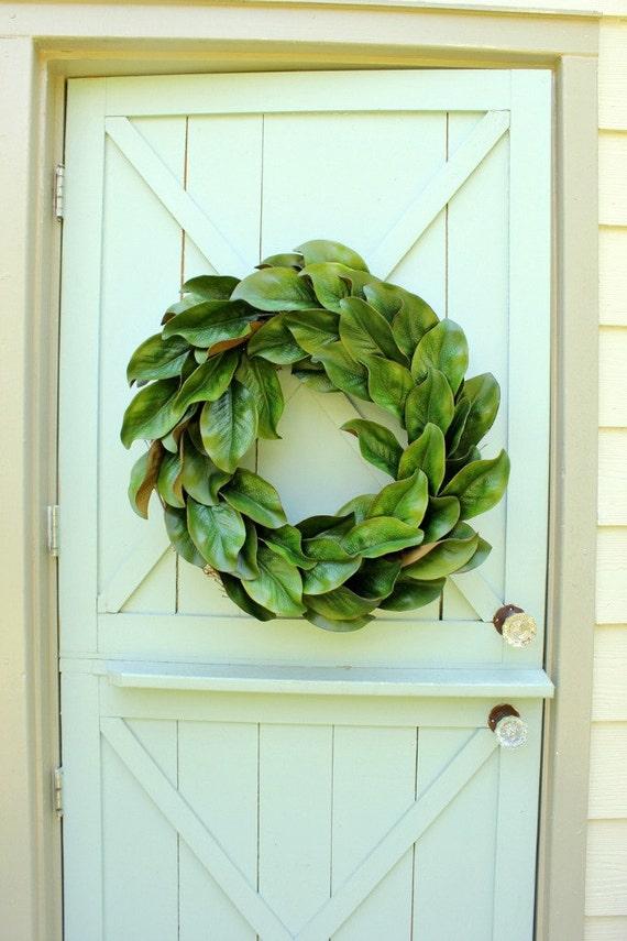 Magnolia Leaf Wreath: Magnolia Wreath Fixer Upper Decor Spring Wreath Year