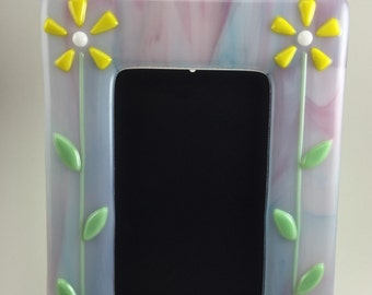 Fused Flower Picture Frame