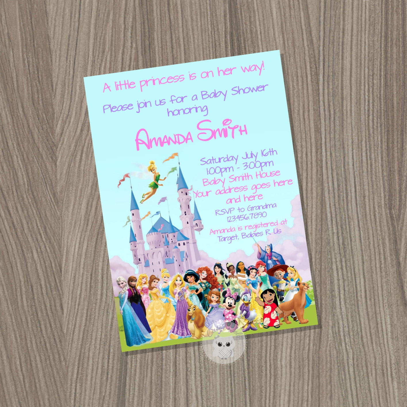 baby shower invitation for girl disney baby shower baby girl