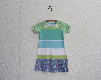 T Shirt Dress, Upcycled Tshirt Dress Size 4, Recycled T Shirt Dress, Repurposed Tshirt Dress, Girl's Dress, Kid's Dress, Kid's T Shirt Dress
