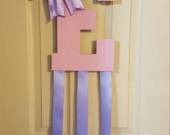 Wooden Letter Bow Holder