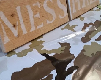 Army party decor. Military party decor. Wooden mess hall sign. Boys birthday decor.