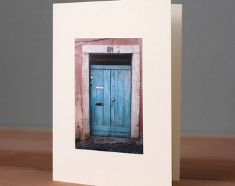 Handmade Lisbon Door Photo Card