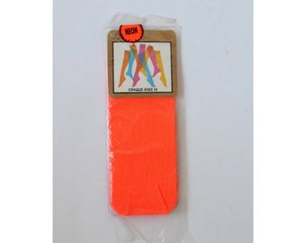 Vintage Neon Socks ~ 60s knee high ~ Deadstock
