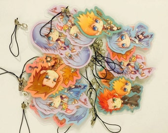 Kingdom Hearts Chibi keychain set