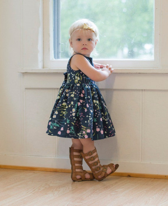 Baby Molly's Scoop Collar and Pintuck Top, Dress and Maxi. PDF sewing patterns for baby sizes NB-24 months