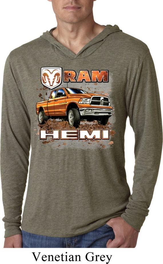 Dodge Ram Hoodie >> Men's Dodge Shirt Ram Hemi Trucks Lightweight Hoodie Tee