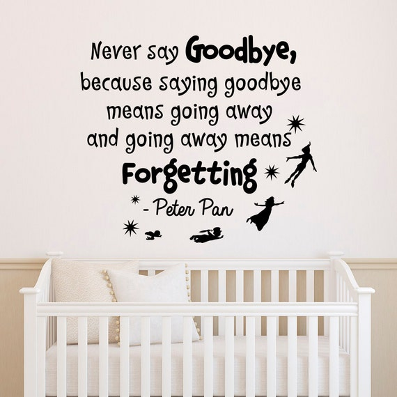 Quotes About Goodbye Peter Pan
