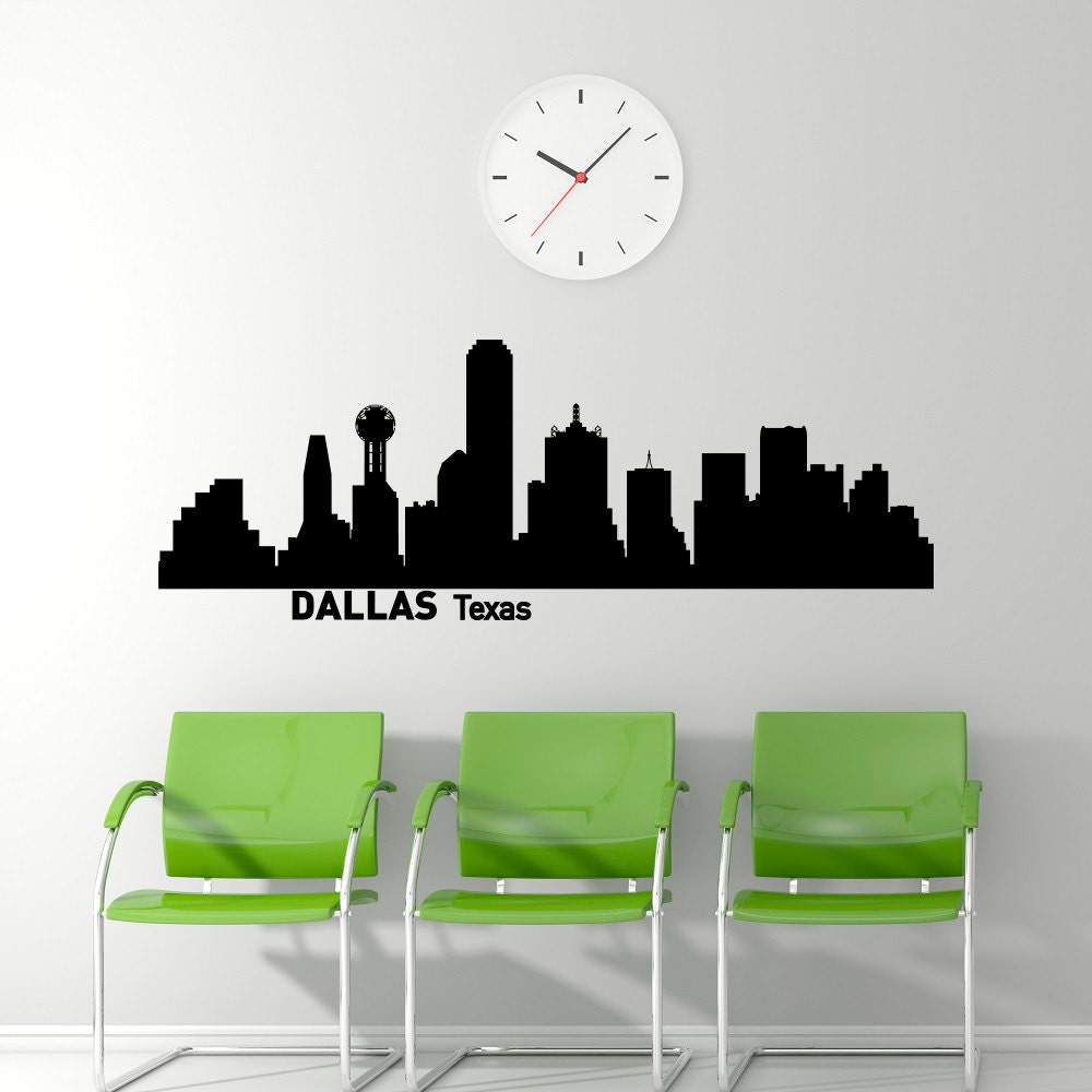 Dallas skyline wall decal city silhouette dallas texas wall description dallas skyline wall decal city amipublicfo Gallery
