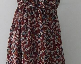 Vintage Grunge 1990's Floral Revival Dress