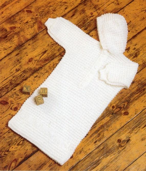 Baby Knitting Patterns Sleeping Bag : Baby Sleeping Bag Knitting Pattern Birth to 12 months uses
