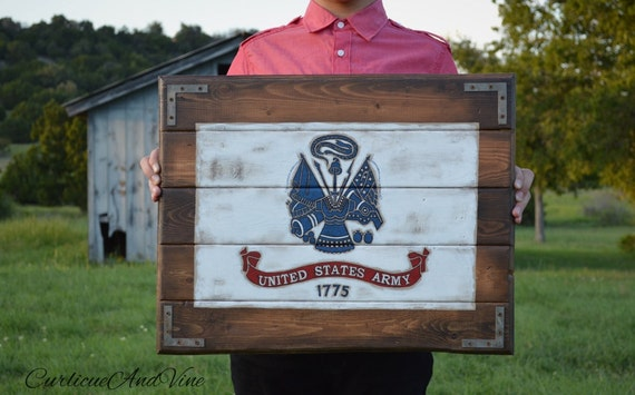 United States Army-Flag-Army-Pallet Board-Military-Soldier-Wall Art-Rustic Barnwood Decor-Man Cave-Flags-Shabby-Reclaimed Wood-Hand Painted