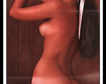 "Mature Playboy September 1965 : Playmate Centerfold Patti Reynolds Gatefold 3 Page Spread Photo Wall Art Decor 11"" x 23"""