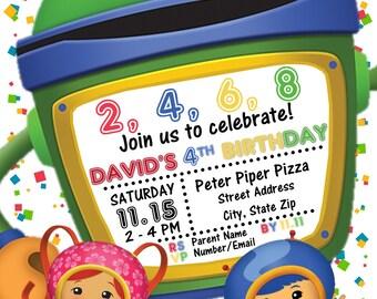 Team Umizoomi Birthday Party Invitation | Digital File