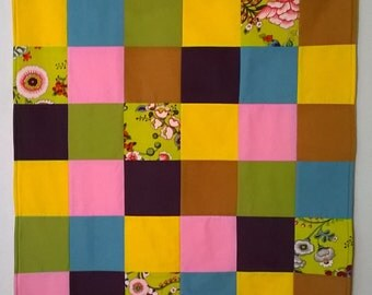 Yellow Floral Baby Quilt