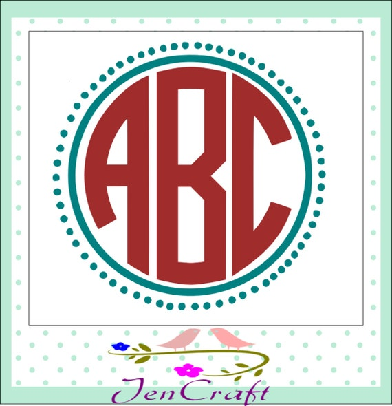 Circle monogram font SVG Cut Files circle font by JenCraftDesigns