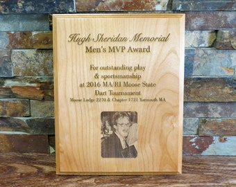 Custom Wood Plaque - Awards - Memorials - Baby Photos - Wedding - Anniversary Gift - Special Gift- Home Decor