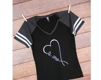 Te Amo baseball t-shirt