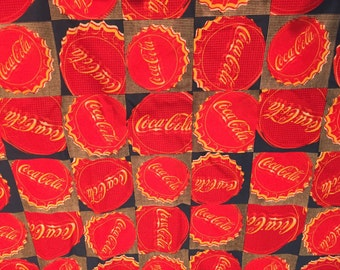 Coca Cola Bottle Tops Fabric