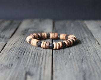 NEW - Coconut and lava stone Bracelet