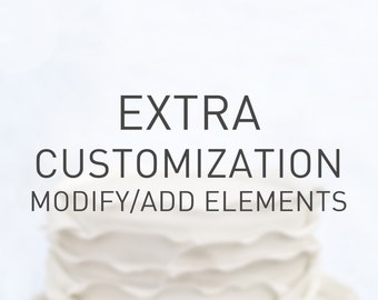 Extra Customization_modify or add elements to cake topper's design in our shop