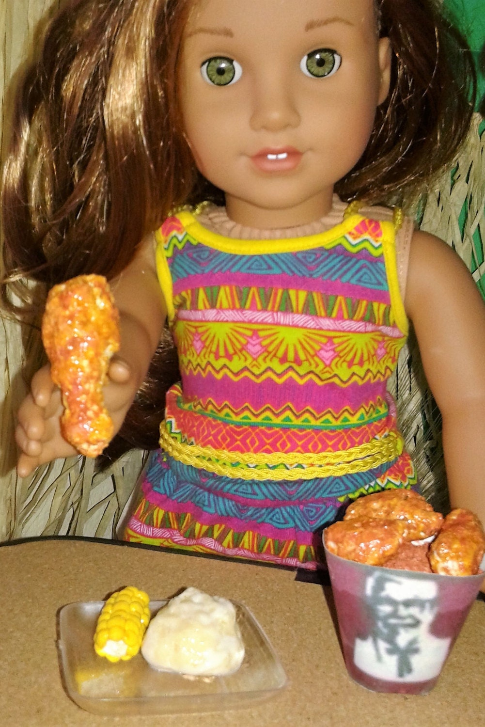how to make 18 inch doll food