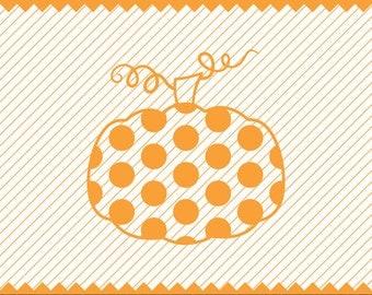 NEW! Polka Dot Pumpkin Svg file, Polka Dot Pumpkin for Cricut, Fall SVG, Halloween SVG,Highest Quality Instant Download Etsy Store, svg, dxf