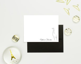 Womens Gift for Her, Personalized Stationary Set, Custom Stationary Cards, Personalized Mens Stationary, Animal Stationery Set of 10